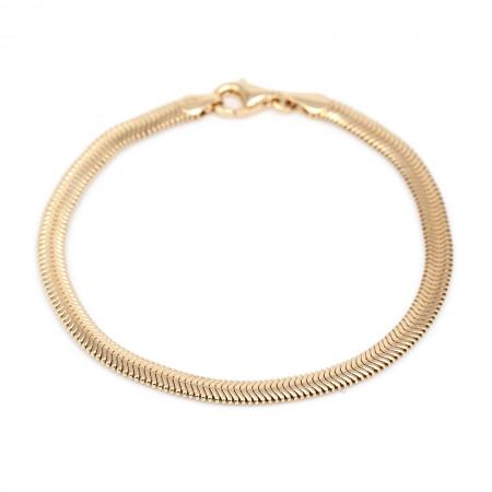 schlangenkette armband flach gold Test