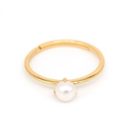 Ring Mariella mit Süßwasserperle 925 Sterlingsilber 18K vergoldet Test