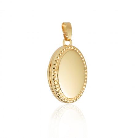 Medaillon Belle 925 Sterlingsilber 18K vergoldet Test