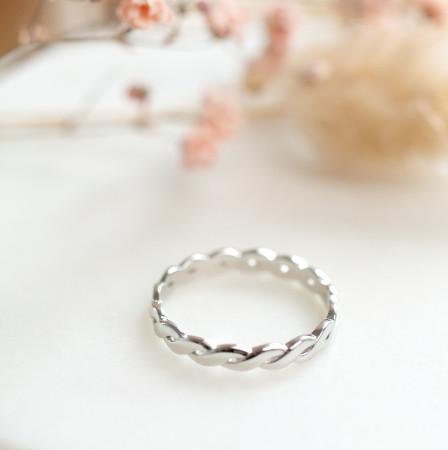 Braided Ring Slim aus 925 Sterlingsilber Test