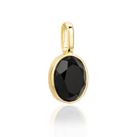 Miracle Stone Collection Onyx Oval 925 Sterlingsilber 14K vergoldet Test