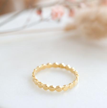 Ring Marly aus 925 Sterlingsilber 18K vergoldet Test
