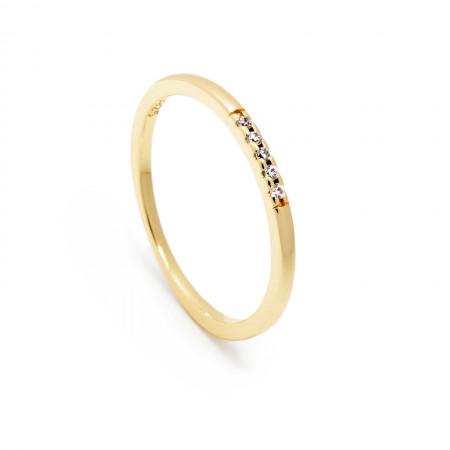 Ring Linea 925 Sterlingsilber 14K vergoldet Test
