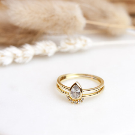 ring set zirkonia gold Test