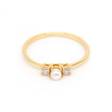 filigraner ring zirkonia und perle gold Test
