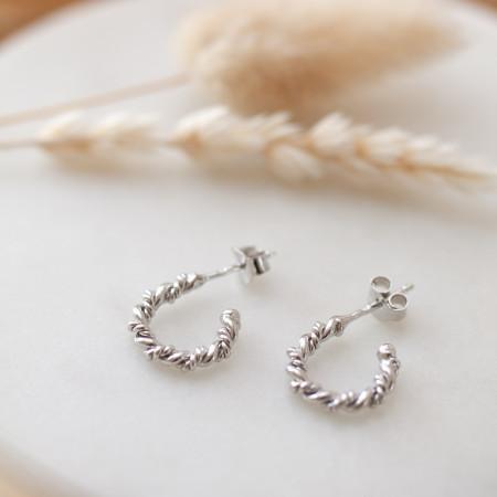 Ohrringe Luisa aus recyceltem 925 Sterlings Silber Test