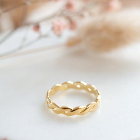 Braided Ring aus 925 Sterlingsilber 18K vergoldet Test