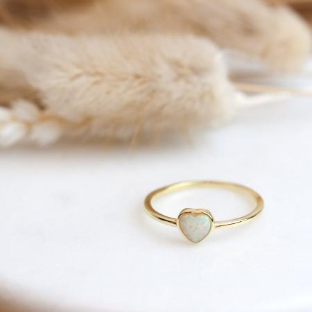 herz ring gold mit opal Test