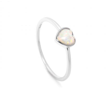 Herz Ring Amelie 925 Sterlingsilber mit Opal Test