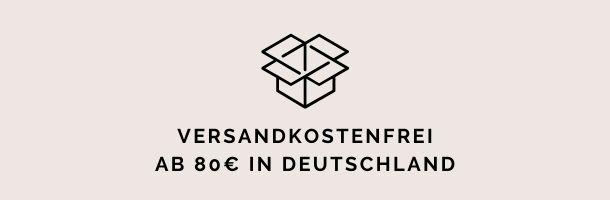 Versandkostenfrei ab 80 Euro in Deutschland