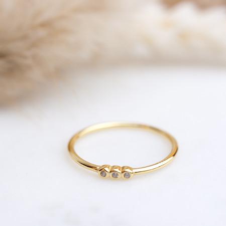 Ring Tiny Dots 925 Sterlingsilber 18K vergoldet Test