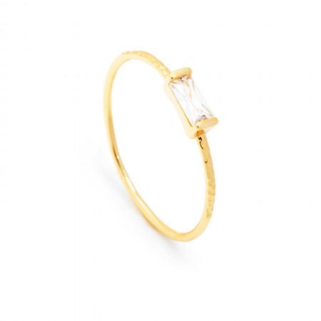 Ring Lilith Baguette 925 Sterlingsilber 18K vergoldet Test