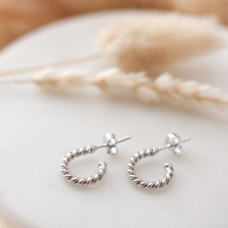 Ohrringe Aurelia aus recyceltem 925 Sterlings Silber Test