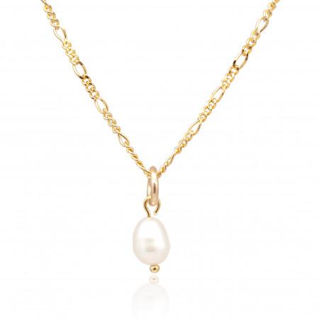 Perlenkette Kiara 925 Sterlingsilber 18K vergoldet Test
