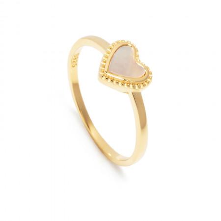Ring MSC Perlmutt Love Edition 925 Sterlingsilber 18K vergoldet Test