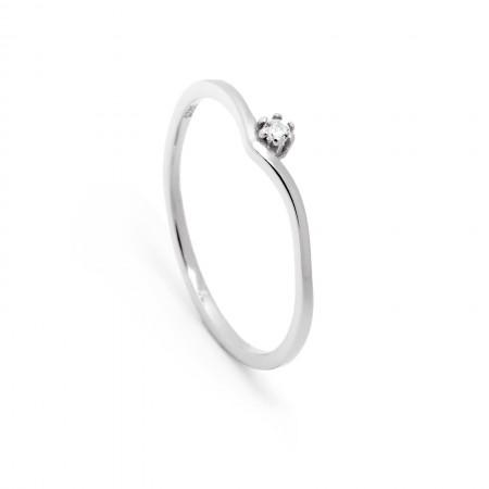 Ring Alina aus 925 Sterlingsilber mit Zirkonia Test