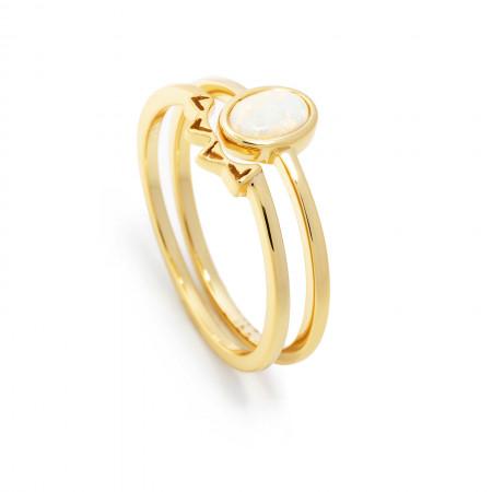 Ring Set Aria mit Opal 925 Sterlingsilber 14K vergoldet Test