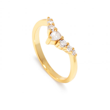 Ring Selina mit Zirkonia 925 Sterlingsilber 18K vergoldet Test