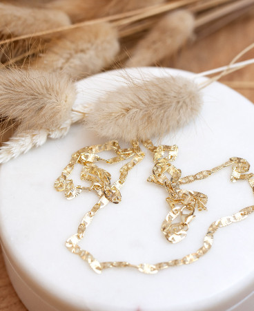 Collier Daisy diamantiert aus 925 Sterlingsilber 18K vergoldet Test