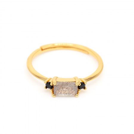 ring labradorit baguetteform gold Test