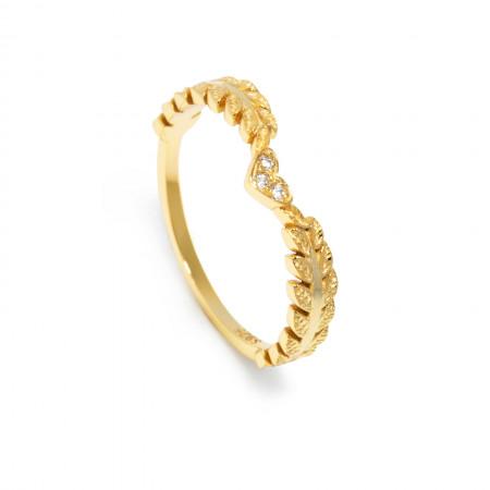 Ring Leila aus 925 Sterlingsilber 24K vergoldet Test