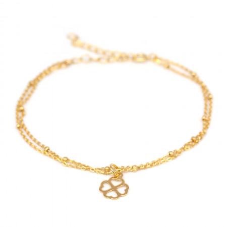armband kleeblatt glück gold Test